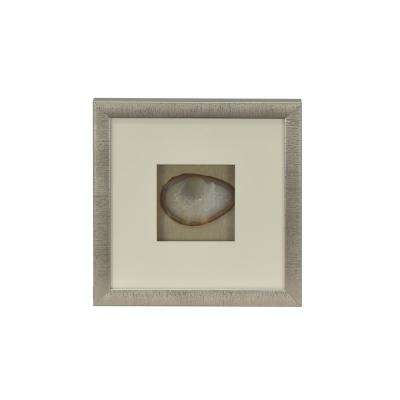 12 in. x 12 in. Rozella Brown Agate Shadowbox in Small