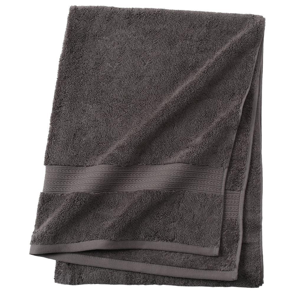 Newport 1-Piece Bath Towel in Charcoal