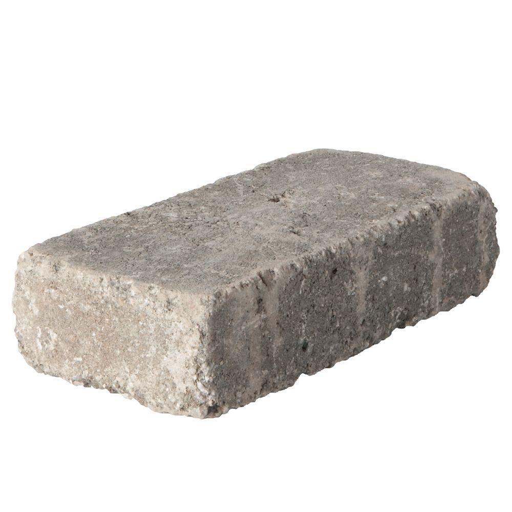 RumbleStone Mini 7 in. x 3.5 in. x 1.75 in. Greystone Concrete Paver