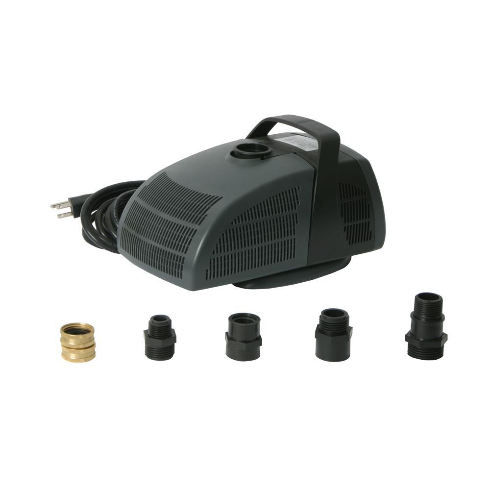 Algreen Rain Barrel Pump Kit with 1350 GPH Pump