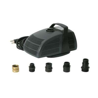 Rain Barrel Pump Kit with 1350 GPH Pump