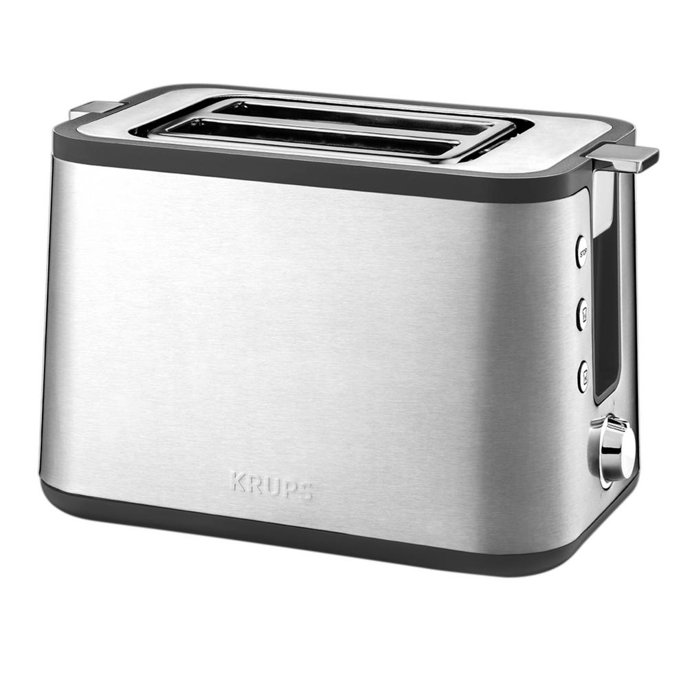 Krups 2 Slice Stainless Toaster KH442D50 The Home Depot