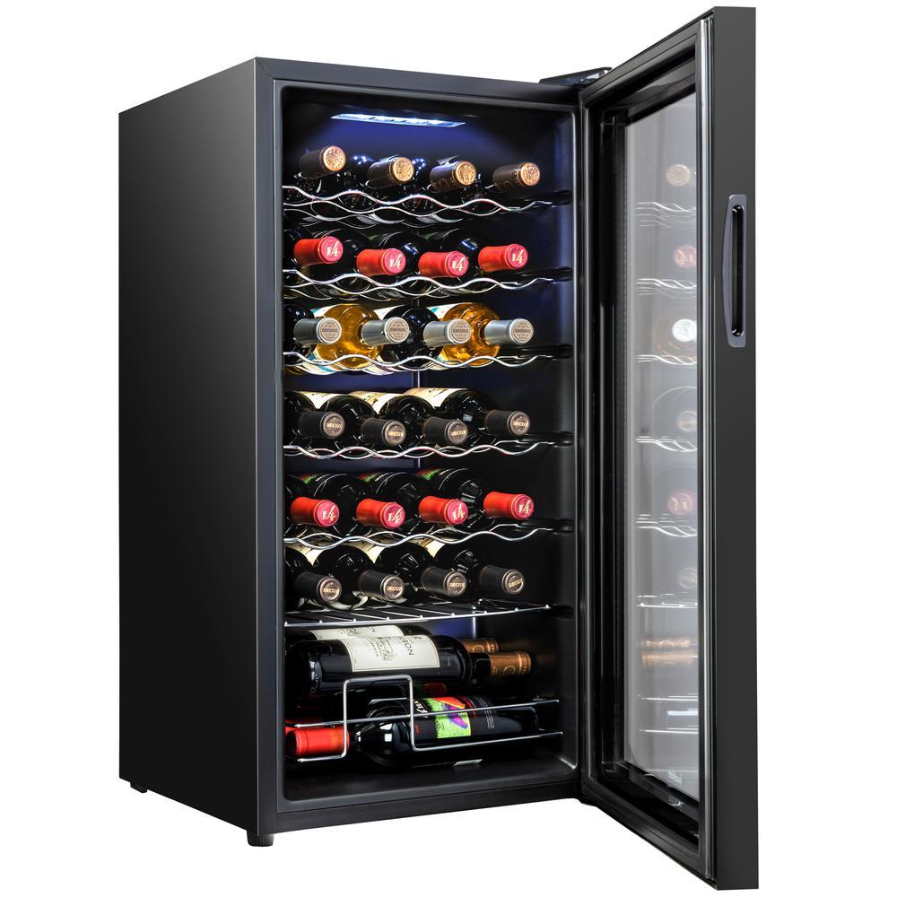 16.9 in. 28-Bottle Compressor Wine Cooler