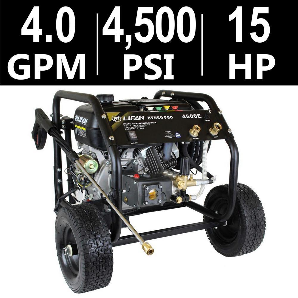 LIFAN Hydro Pro Series 4,500 psi 4.0 GPM AR Tri-Plex Pump...