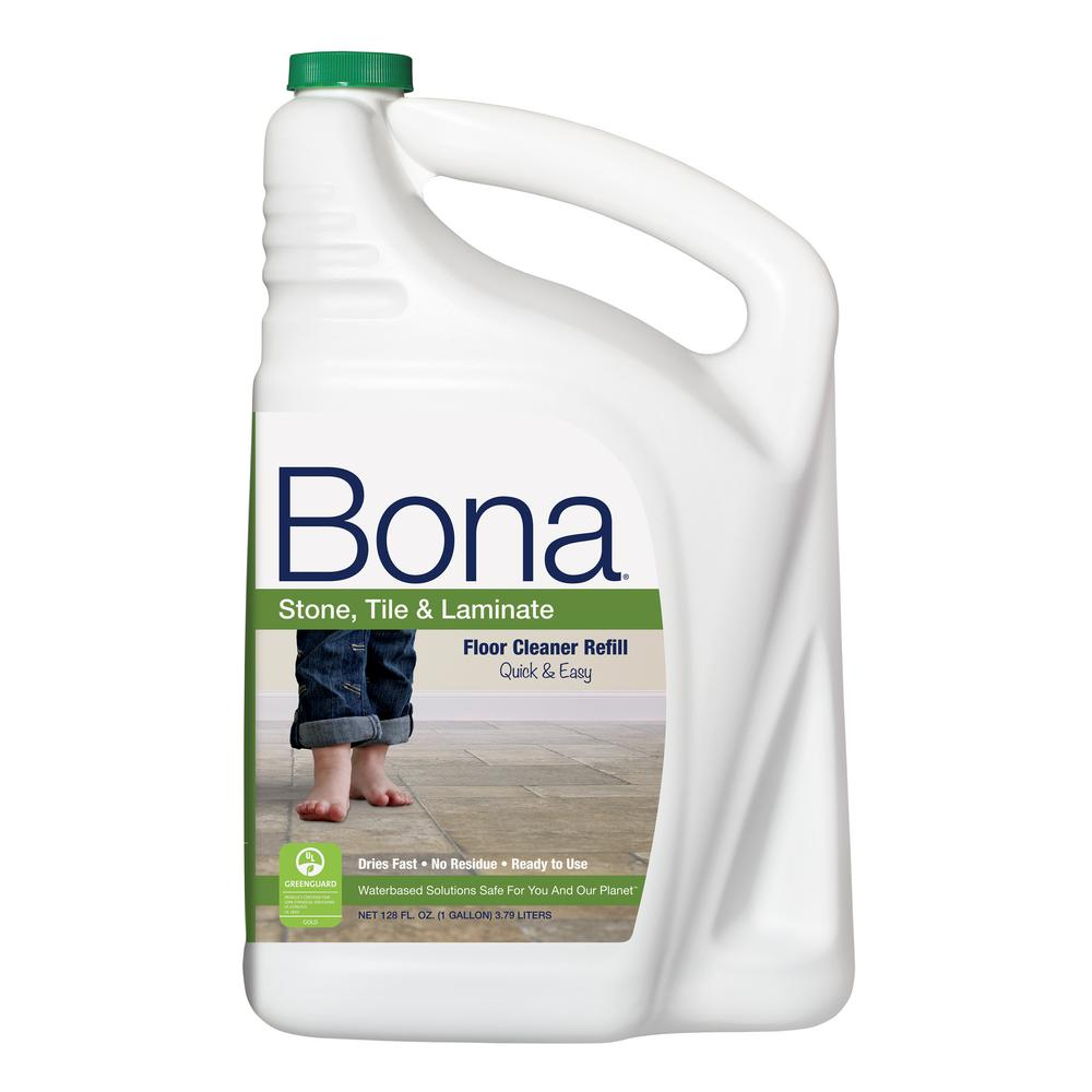 Bona Oz Stone Tile And Laminate CleanerWM The Home - Clean tile floors without residue