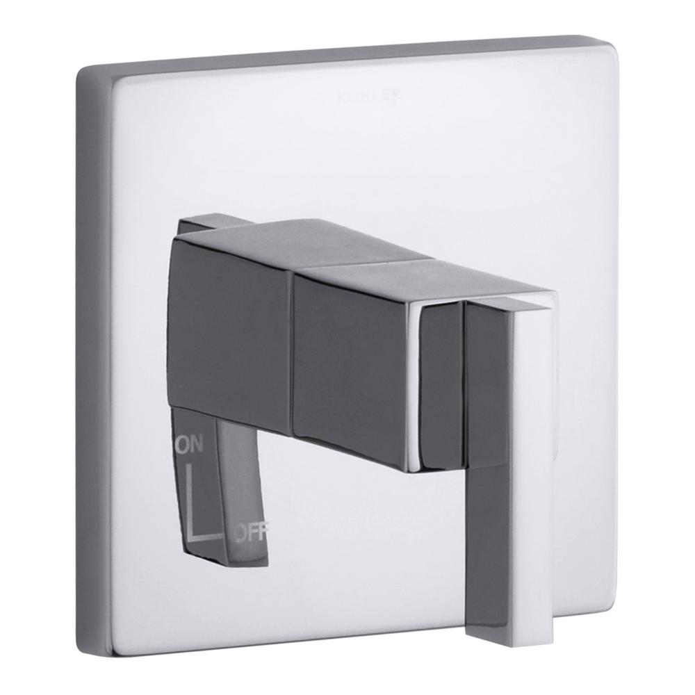 Loure 1-Handle Wall-Mount Volume Control Trim in Polished Chrome (Valve Not