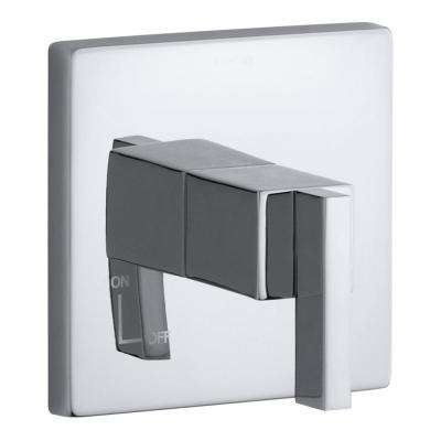 Loure 1-Handle Wall-Mount Volume Control Trim in Polished Chrome (Valve Not Included)