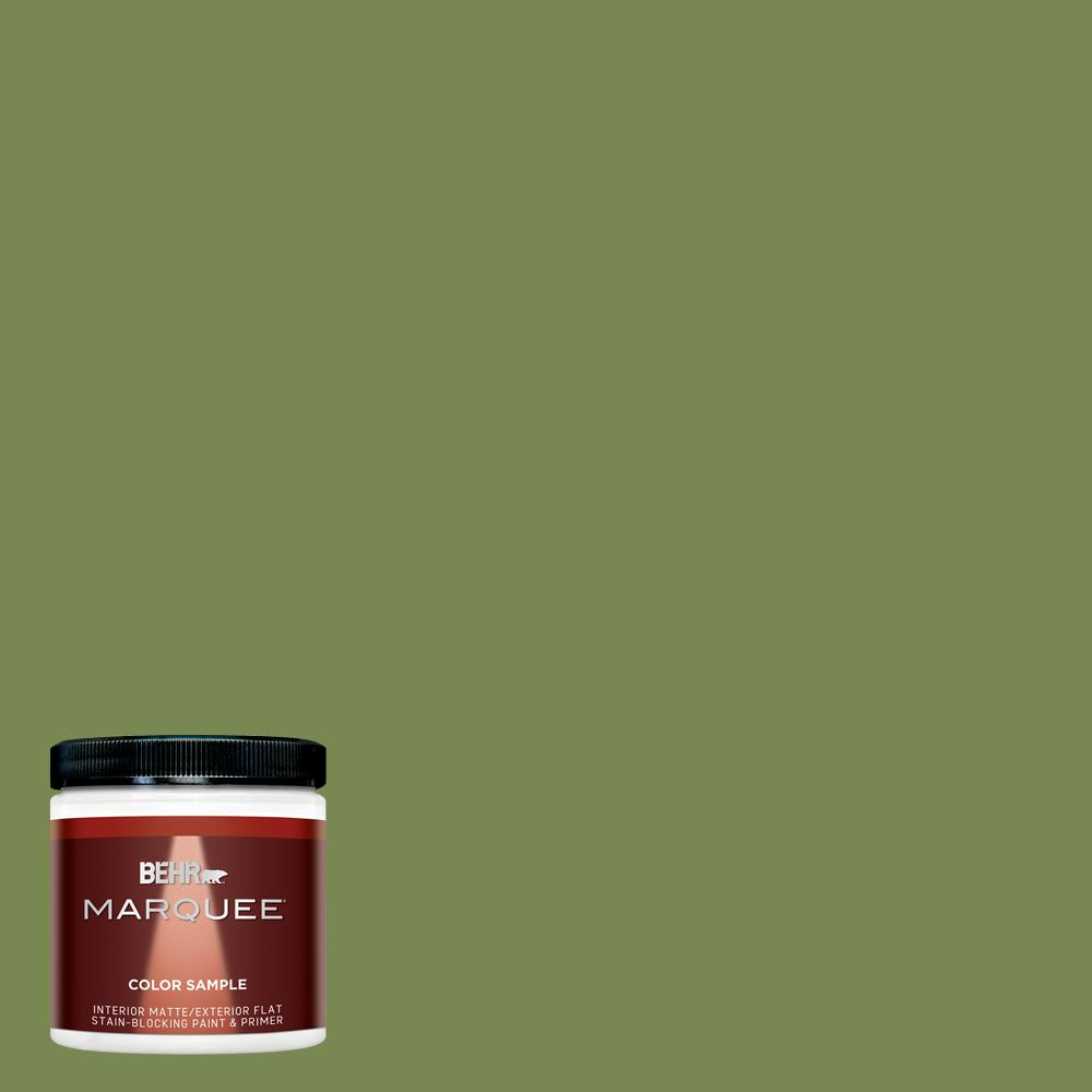 8 oz. #HDC-SM14-2 Green Suede Matte Interior/Exterior Paint Sample
