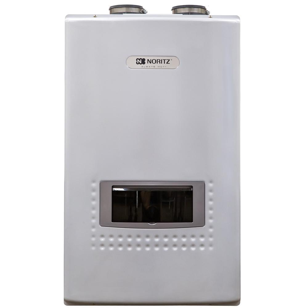 Noritz 11.1 GPM Built-In Recirc. Pump - Natural Gas High Efficiency Indoor/Outdoor Tankless Water Heater 12-Year Warranty