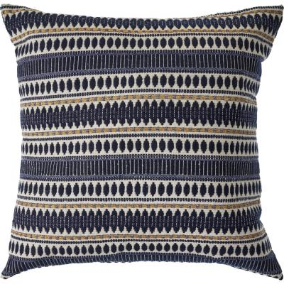 Twinkling Night Black Striped Droplets Geometric 20 in. x 20 in. Decorative Throw Pillow