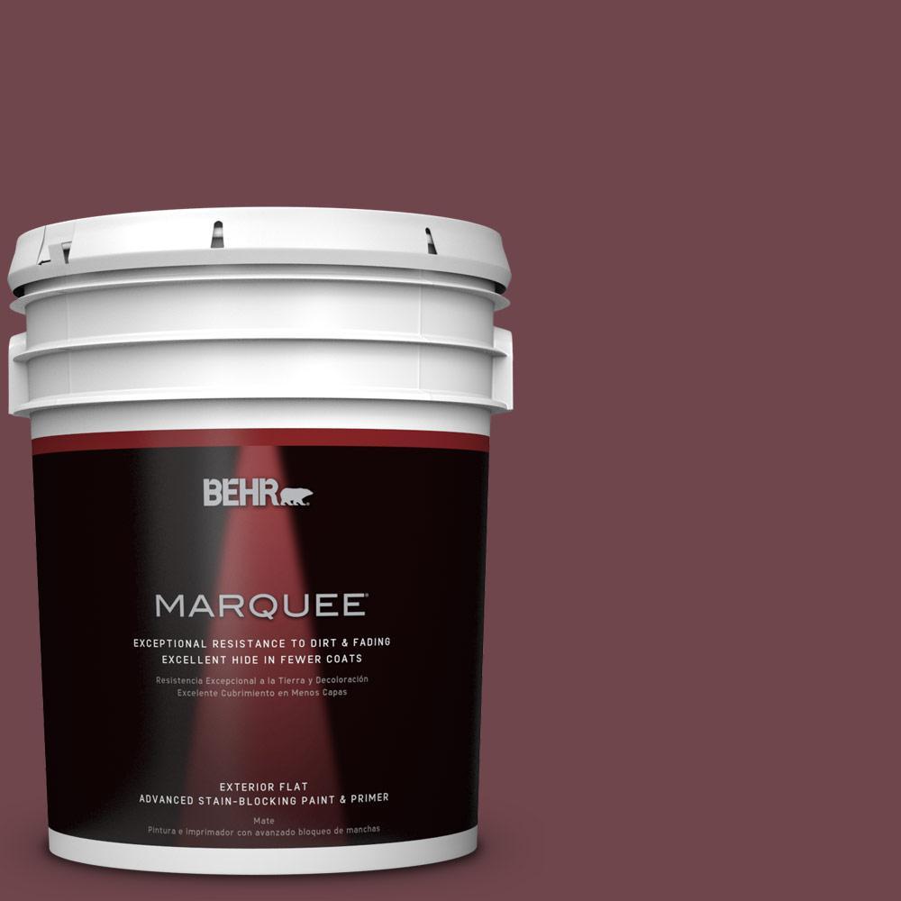 5-gal. #PPU1-14 Formal Maroon Flat Exterior Paint