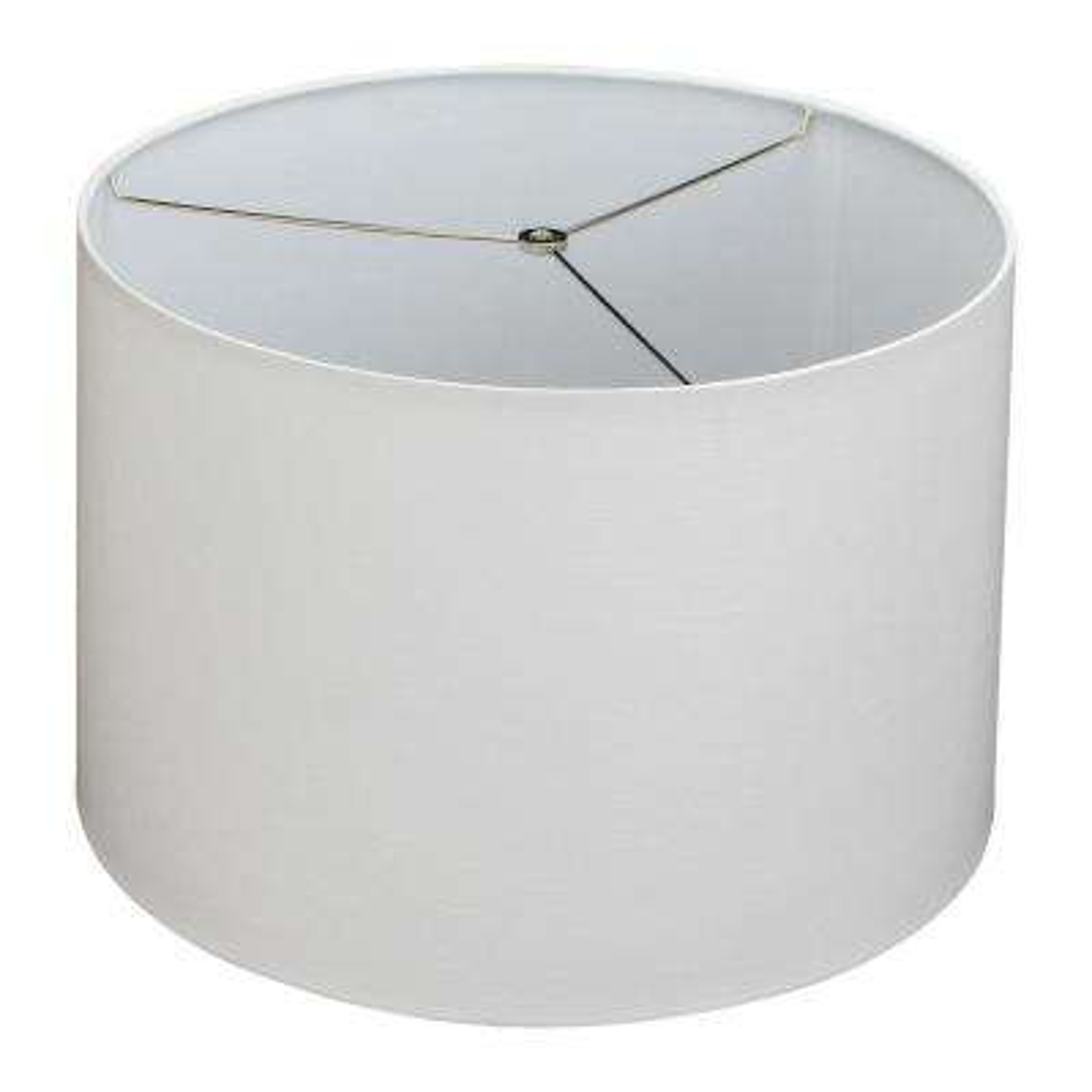 Fenchel Shades 18 in. Top Diameter x 19 in. Bottom Dia x 12.5 in. Slant Empire Lamp Shade - Designer Linen Off White