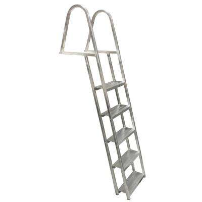 5-Step Angled Wide 5-1/2 in. Aluminum Dock Ladder
