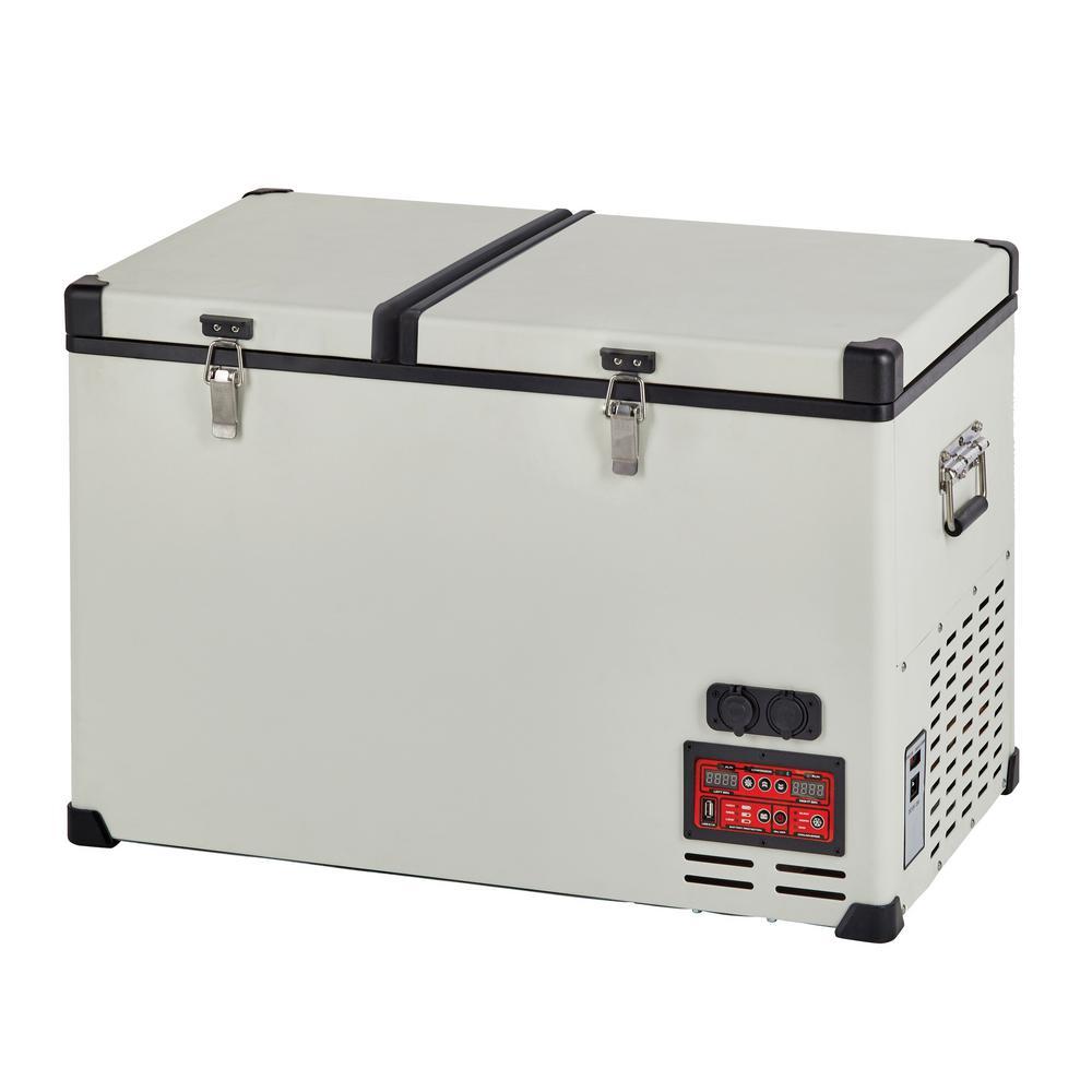 12 Volt Fridge >> Unique 4 2 Cu Ft 120 L Solar 12 Volt 24 Volt Dc Or 110 Volt Ac Portable Refrigerator Freezer In White