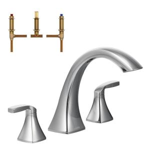moen oxby roman tub faucet. Voss 2 Handle Deck Mount High Arc Roman Tub Faucet Trim Kit with Valve MOEN