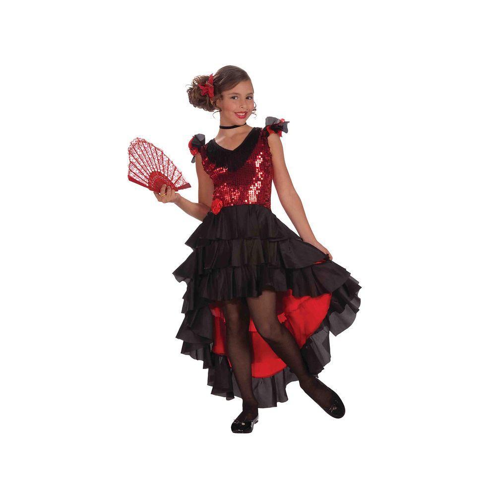 Medium Girls Designer Spanish Dancer Costume