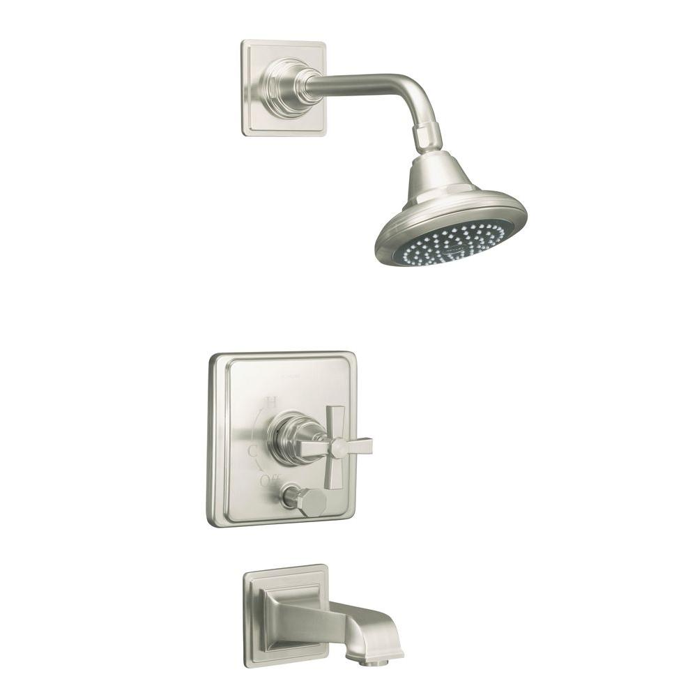KOHLER Pinstripe 1-Handle Tub and Shower Faucet Trim Only in Vibrant ...
