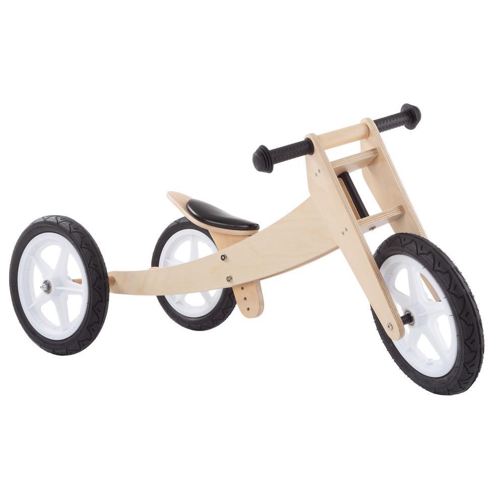 3-in-1 Wooden Convertible Glide Bike