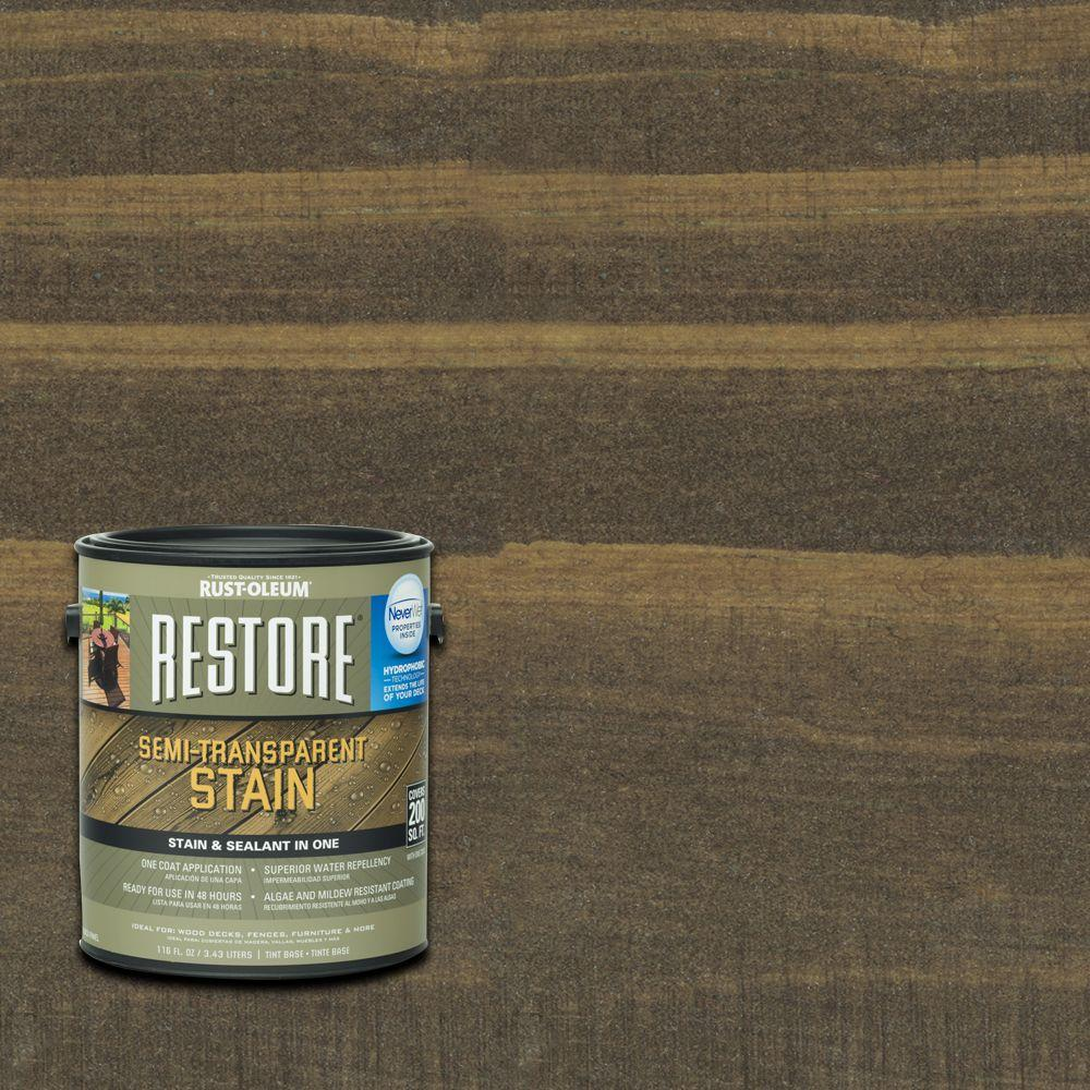 Rust-Oleum Restore 1 gal. Semi-Transparent Stain Bark with NeverWet