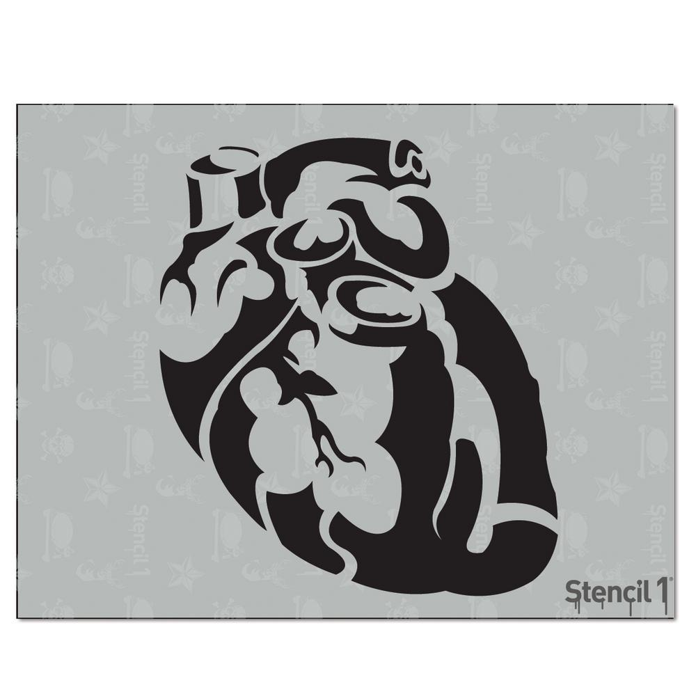 Stencil1 Anatomical Heart Stencil S10161 The Home Depot