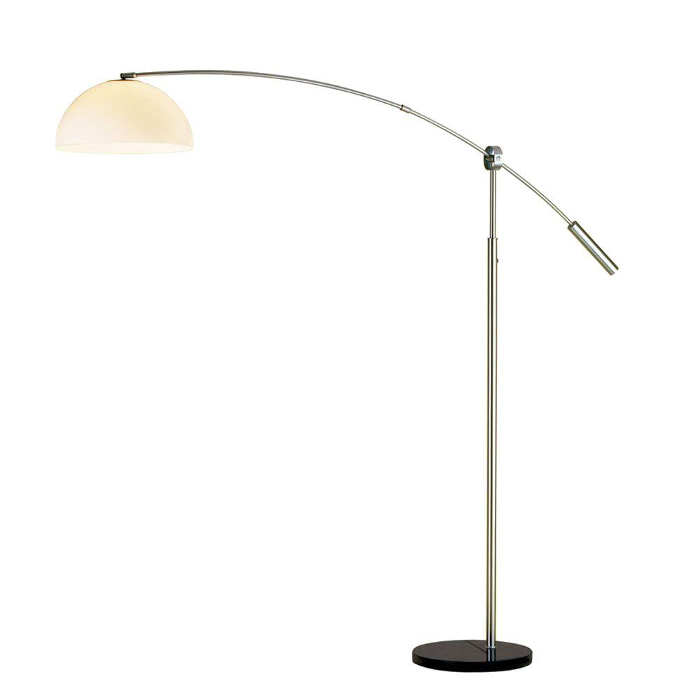 Outreach 90 in. Satin Steel Arc Lamp