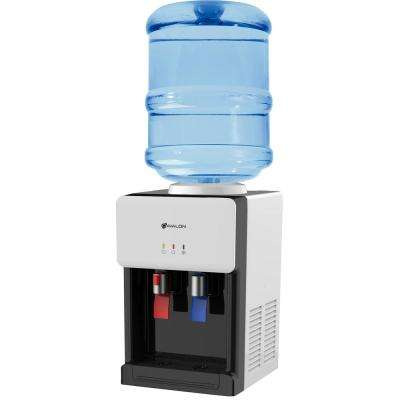 Premium Hot/Cold Top Loading Countertop Water Cooler Dispenser with Child Safety Lock, White