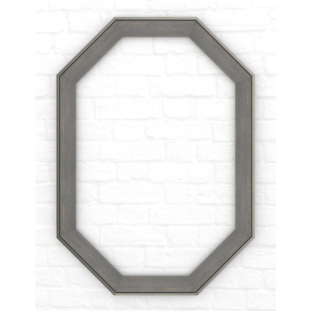 33 in. x 46 in. (L3) Octagonal Mirror Frame in Weathered
