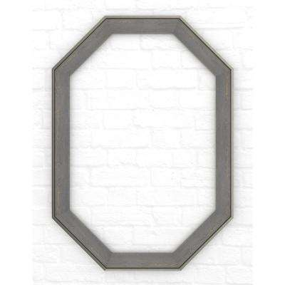 33 in. x 46 in. (L3) Octagonal Mirror Frame in Weathered Wood