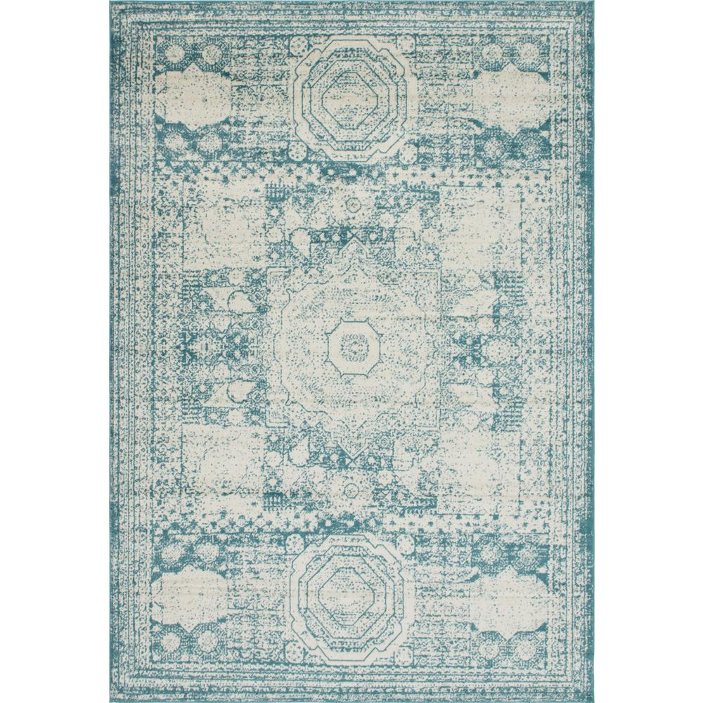 Unique Loom Turquoise 10 Ft. X 14 Ft. Bromley Area Rug