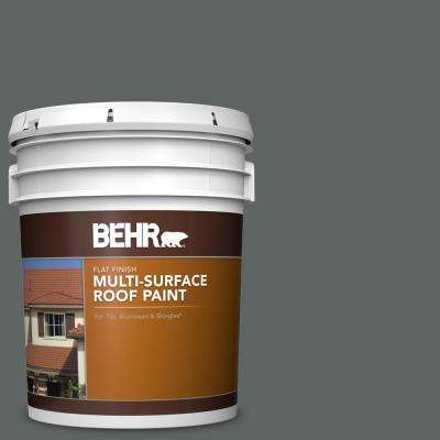 5 gal. #BXC-41 Charcoal Flat Multi-Surface Exterior Roof Paint