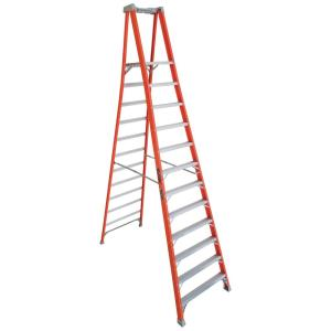 Louisville Ladder 12 ft. Fiberglass Pinnacle Platform Ladder with 300 lbs. Load Capacity Type IA Duty Rating by Louisville Ladder