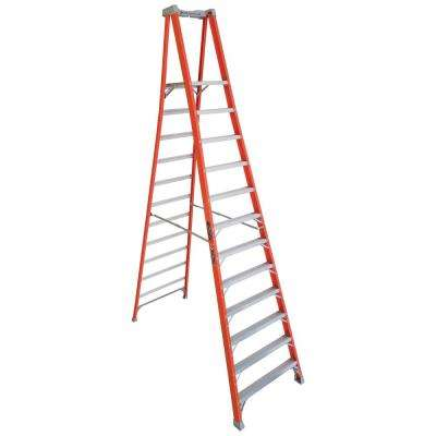 12 ft. Fiberglass Pinnacle Platform Ladder with 300 lbs. Load Capacity Type IA Duty Rating