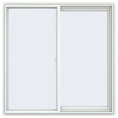 JELD-WEN 47.5 in. x 47.5 in. V-2500 Series White Vinyl Right-Handed Sliding Window with Fiberglass Mesh Screen