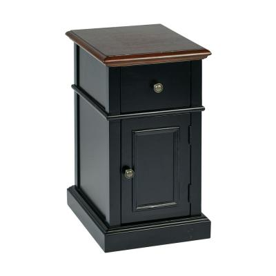 Black 2-Tone Oxford Chair Side Table