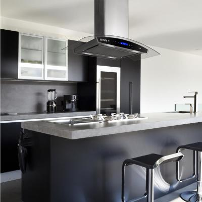 30 in. Convertible Kitchen Island Mount Range Hood in Stainless Steel with Tempered Glass, Touch Control & Carbon Filter