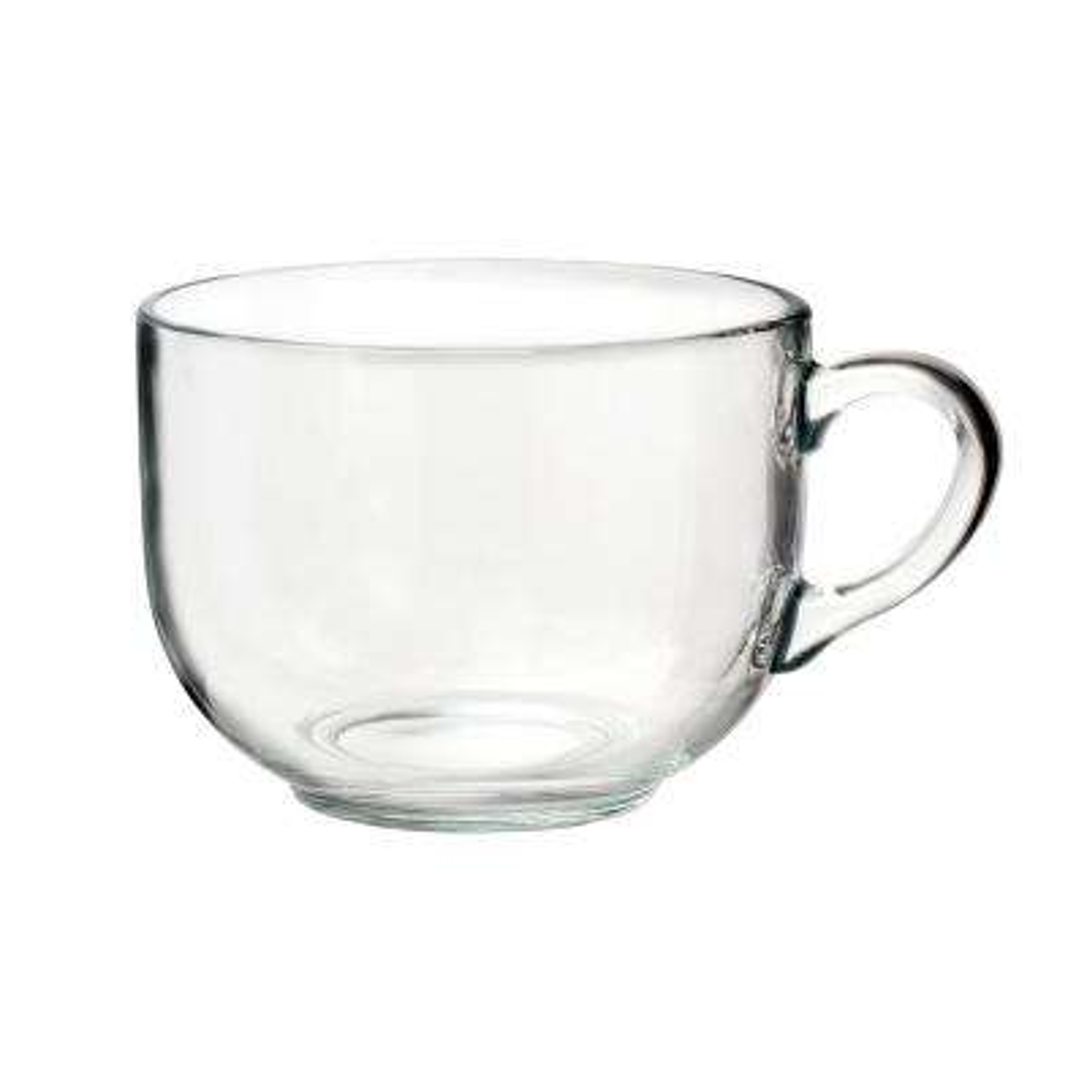 Tazotta 22 oz. Clear Glass Coffee Mug (Set of 6)