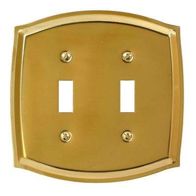 Sonoma 2 Toggle Wall Plate - Polished Brass