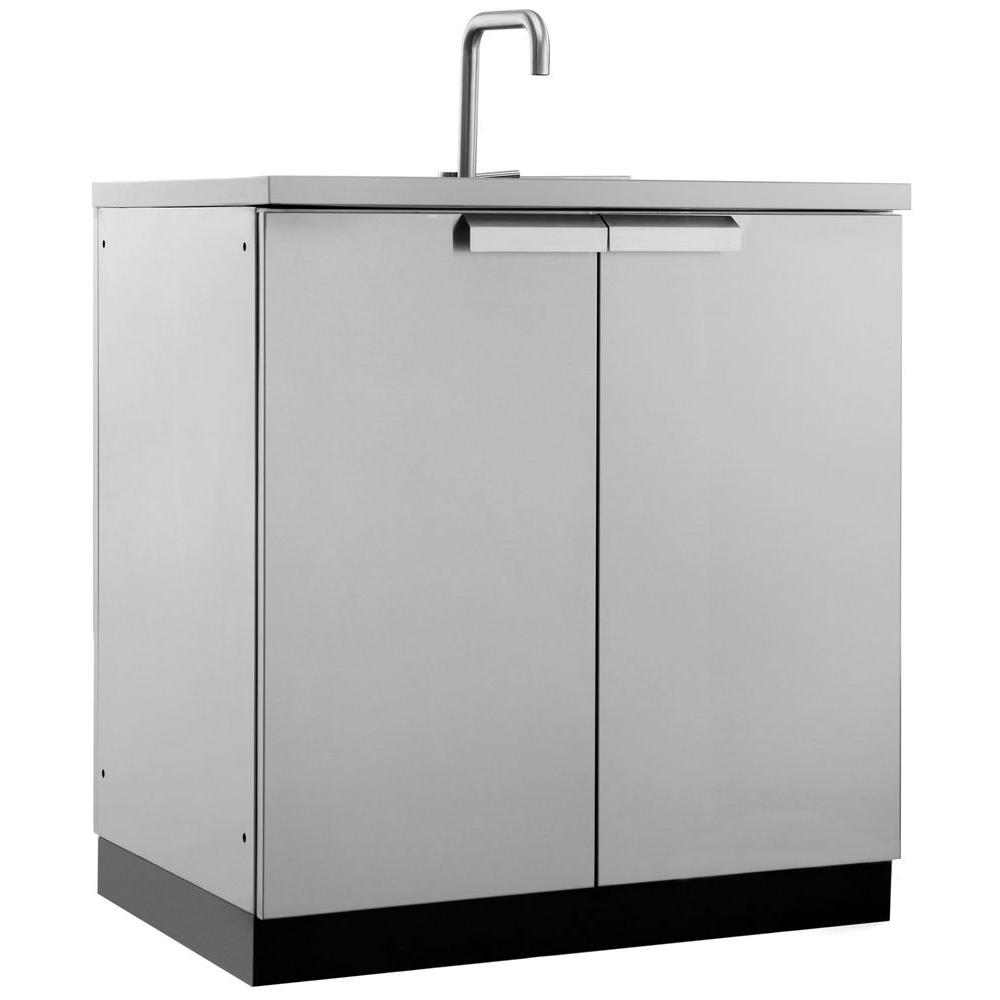 Newage Products Stainless Steel Classic 32 In Sink 32x35x24 In Outdoor Kitchen Cabinet 65001