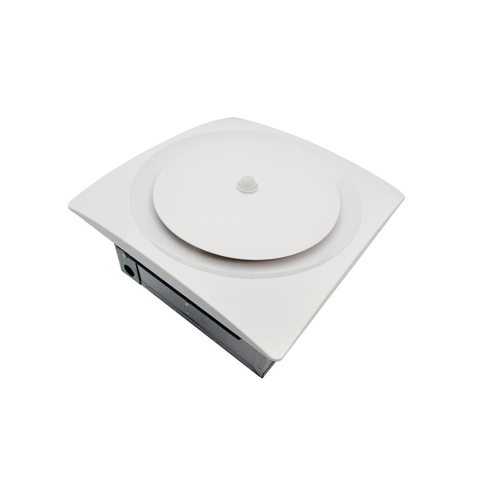 Aero Pure Adjustable Speed 80-140 CFM Ceiling or Wall Mount Bathroom Exhaust Fan w/Humidity and Motion Sensor White ENERGY STAR