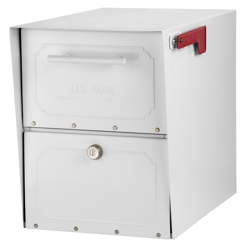Oasis Classic Locking Post Mount Parcel Mailbox with High Security Reinforced