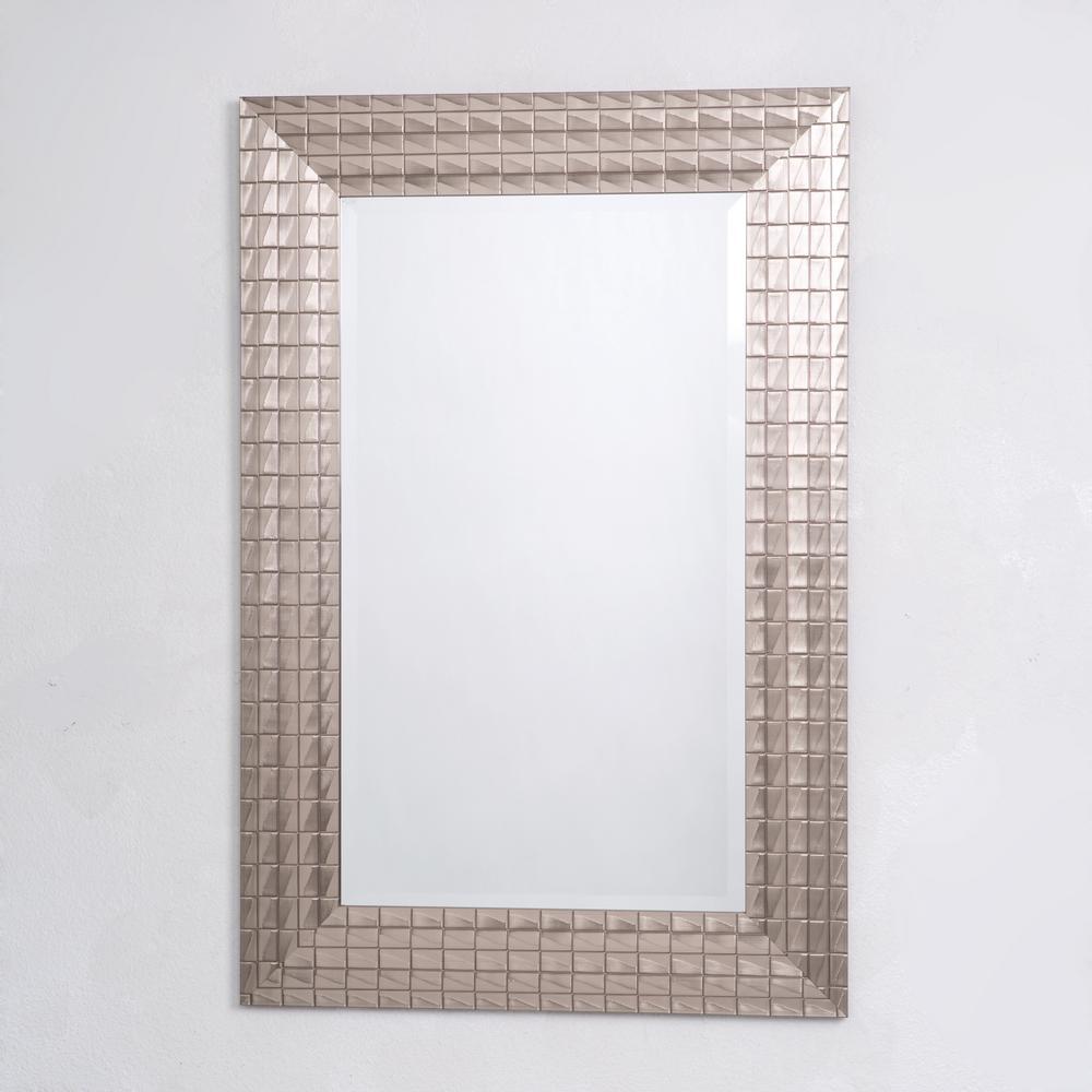 Pewter Blocks Mirror Frame