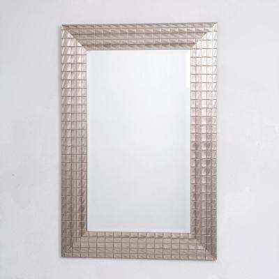 Pewter Blocks Mirror Frame