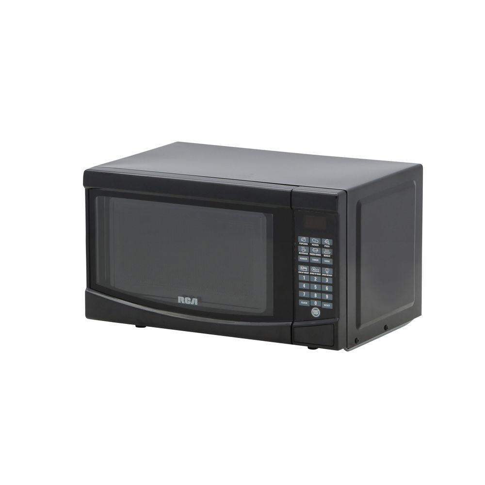 Rca 07 Cu Ft Countertop Microwave In Black Rmw733 Black The