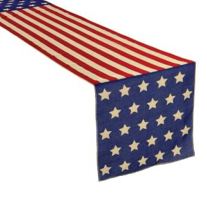 Click here to buy Amscan 6 ft. x 14 inch Patriotic Table Runner (2-Pack) by Amscan.