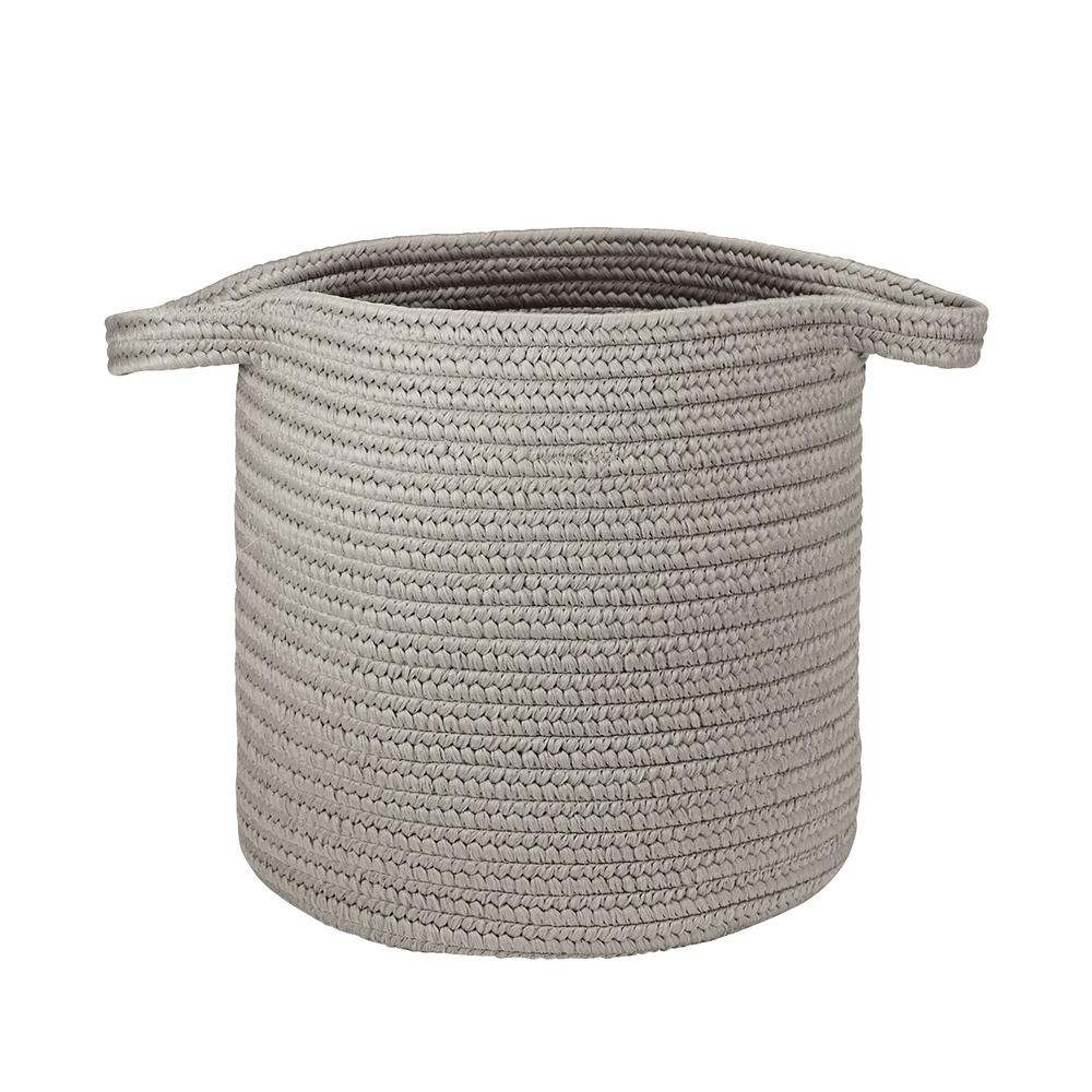16 in. x 16 in. x 20 in. Silver Addison Braided Laundry Basket