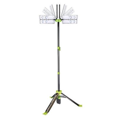 Voyager 4,000 Lumen Rechargeable Collapsible Weatherproof LED Work Light with Remote, Five Modes and Battery