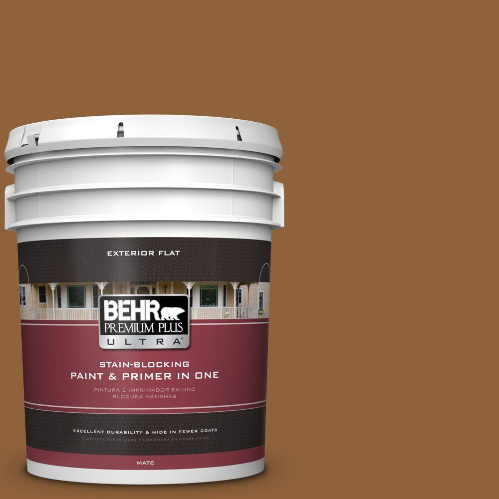 5 gal. #S250-7 Moroccan Spice Flat Exterior Paint and Primer in