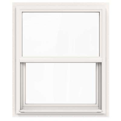 30 in. x 36 in. V-4500 Series White Single-Hung Vinyl Window with Fiberglass Mesh Screen