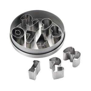 Click here to buy Cake Boss Decorating Tools 9-Piece Stainless Steel Number Cookie Cutter Set by Cake Boss.