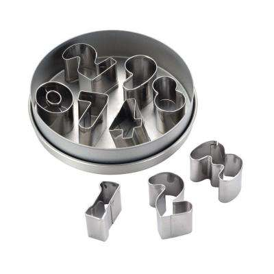 Decorating Tools 9-Piece Stainless Steel Number Cookie Cutter Set